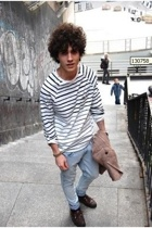 H&M t-shirt - H&M jeans - Zara sweater - Sebago shoes