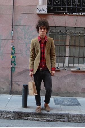 Paul Smith jacket - vintage shirt - H&M pants - Superga shoes