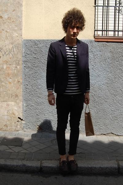 Ralph Lauren jacket - benetton t-shirt - vintage pants - Sebago shoes