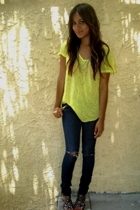 Zara t-shirt - BDG jeans - Jeffrey Campbell shoes