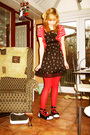 Red-claires-tights-black-mbutterfly-dress-black-glp-shoes-red-f-f-cardigan