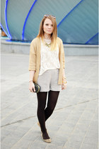 cream Lefties blouse - gold Lefties blazer - black meli melo bag