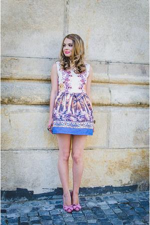white Sheinsidecom dress - light pink Lovelywholesale heels