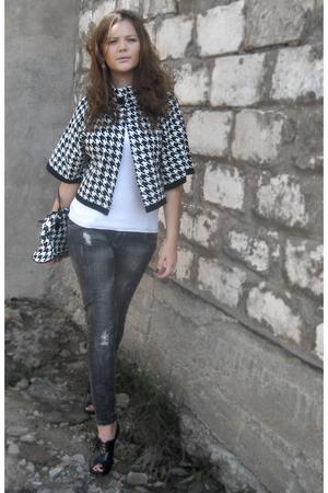 white vintage chanel jacket