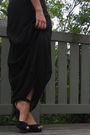 Black-asos-dress-black-new-look-shoes