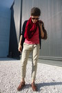 Crimson-oxfords-zara-shoes-red-snood-zara-scarf-brown-blanco-bag-beige-diy