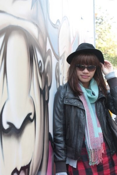 hat - Zara jacket - scarf - stradvarious shirt