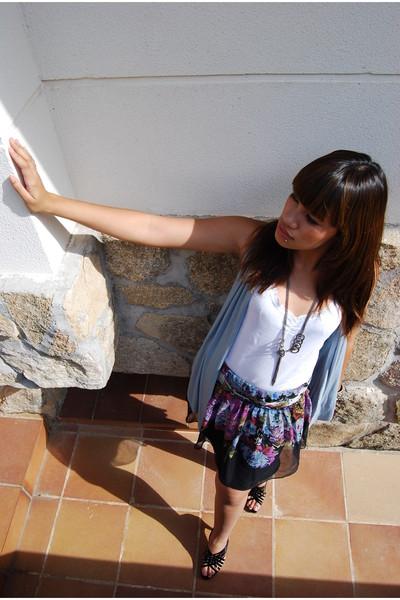 Zara vest - shirt - Mango skirt
