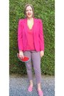 Bubble-gum-topshop-shoes-hot-pink-zara-blazer-red-monki-bag