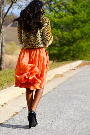 Jcrew skirt - asos shoes - f21 jacket