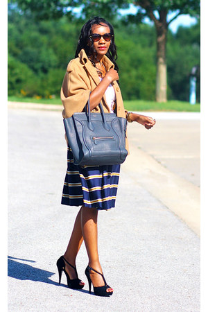 Fabrik cape - Celine bag - Aldo sandals - kate spade skirt