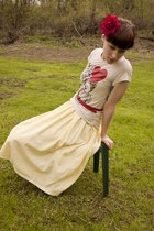 vintage 70s dress - Junk Food t-shirt - lila-jocom accessories