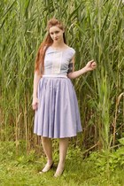 vintage 50s dress - Urban Outfitters skirt - tillys wedges