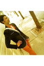 Burnt-orange-cotton-zara-jeans-navy-cotton-h-m-blazer