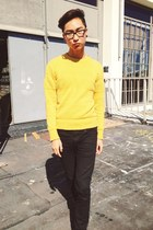 yellow H&M sweater
