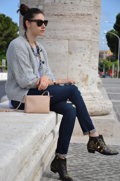 navy J Brand jeans - silver Pierre Balmain t-shirt