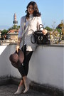 Ivory-roberto-rodriguez-sweater-dark-brown-zara-pants