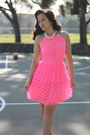 Lace-pink-neon-asos-dress-pearls-forever21-necklace