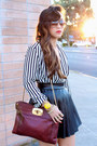 Stripes-blouse-h-m-blouse-ktrcollection-skirt-valentino-pumps