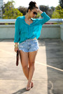 Diy-shorts-bcbgmaxazaria-blouse-christian-louboutin-pumps