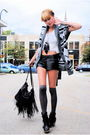 Deena-and-ozzy-boots-forever-21-shorts-hanes-shirt-forever-21-sweater