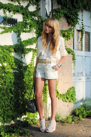 Jeffrey Campbell shoes - Forever 21 shorts - H&M blouse - vintage - vintage belt