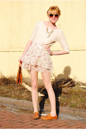 Dexter shoes - skirt - vintage sweater - H&amp;M jacket - Forever 21 necklace - vint