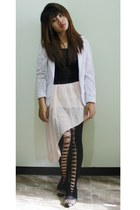 light pink sheer Wholesale Orders skirt - black Romwecom leggings