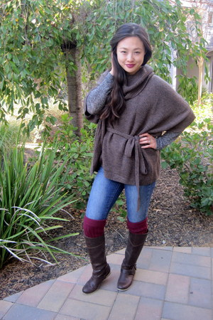 H&M sweater - riding Aldo boots