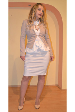 Sheinsidecom blazer - sensationofnight dress - JollyChic heels