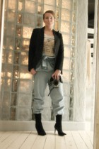 H&M t-shirt - vintage bra - Filippa-K jacket - Ulrika Sandstrm pants - no idea v