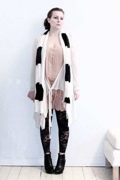 pink Sonia Rykiel for H&M dress - white All Saints cardigan - white Tiger of Swe