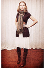 White-zara-dress-brown-rickis-fashion-cardigan-brown-modcloth-belt-brown-a