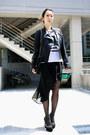 Black-miss-sixty-jacket-white-h-m-shirt-black-chanel-bag