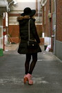 Topshop-dress-floppy-wool-unknown-hat-parka-uniqlo-jacket