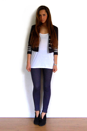 GINA TRICOT jacket - acne top - Topshop leggings - Rizzo shoes