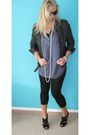 Leonardo-jacket-silk-h-m-shirt-leggings-shoes