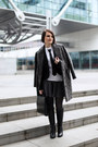 Black-mango-blazer-dark-gray-lindex-coat-white-t-shirt