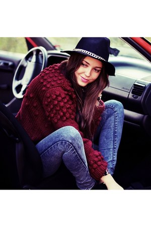 secondhand new look sweater - Zara hat