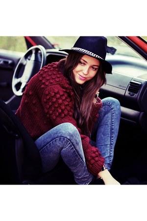 secondhand new look sweater - Zara hat