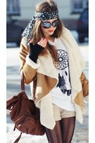 wwwbyjooyshop t-shirt - romwe jacket - romwe tights - romwe bag
