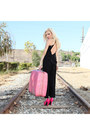 Vintage-bag-samsonite-bag-maxi-dress-im-haute-dress-hot-pink-quipid-pumps