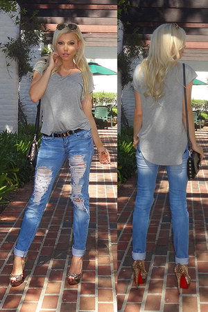 t-shirt Wet Seal shirt - ripped Machine Jean jeans
