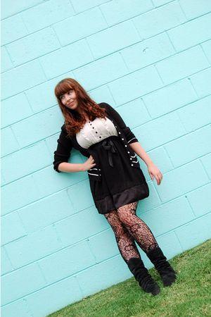 black f21 dress