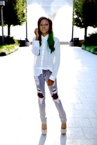 Forever 21 blouse - Max Rave jeans - rainbow heels