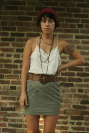 Urban Outfitters skirt - Old Navy top - Urban Outfitters hat - Urban Outfitters