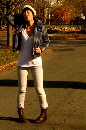 Urban Outfitters jacket - American Apparel shirt - boots - Venice jeans - Urban