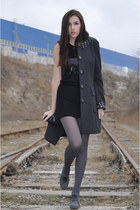 denny rose coat - CorsoComo boots - BGN dress