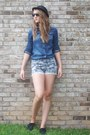 Denim-h-m-shirt-forever-21-shorts-oxfords-j-jill-flats