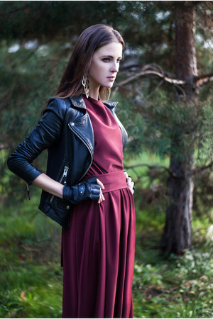 ruby red burgundy Veronica Keys dress